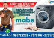 Centro técnico mabe=reparaciones lavadoras=2761763 en la victoria