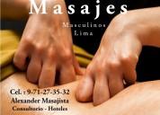 Masajista hombre para hombre en lince