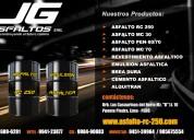 Jg asfaltos eirl venta asfalto rc 250 -emulsion.