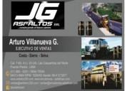Jg asfaltos eirl venta y servicio manto asfaltico