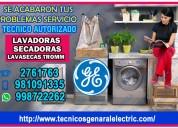 Tecnico de lavadoras y secadoras general electric