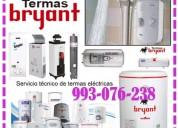 Servicio de mantenimiento de termas a gas bryant