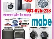 Servicio de mantenimiento de secadoras/lavadoras