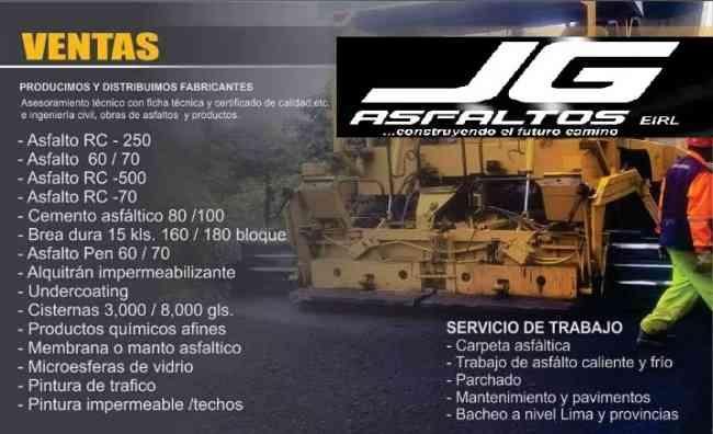 BREA LIQUIDA Y SOLIDO -ASFALTO RC 250 -CARPETA .