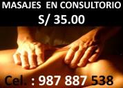 Masajes en consultorio full relax s/ 35.00