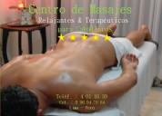 Masajes de calidad internacional en lima perú