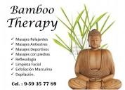 Masaje bamboo therpy en lima