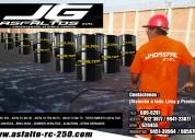 asfalto puro rc-250/emulsion asfaltica en jg .