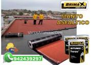 Instalacion de manto asfaltico, brimax peru sac.