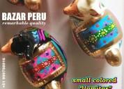 Llamitas artesanías cerámicas calidad exportación