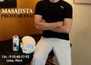 Diego masajista joven brindo masajes en lince