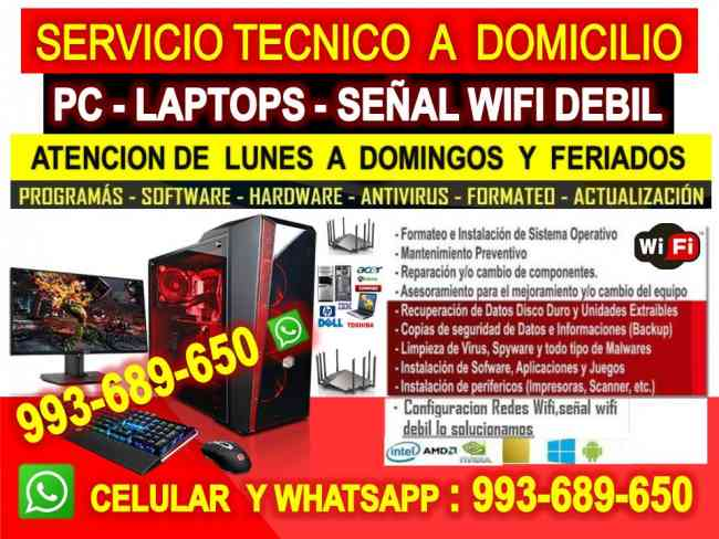 Servicio tecnico wifi,computadoras,laptops,outlook