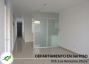 Departamento 3er piso en urb. los geranios - piura