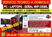 Servicio tecnico a pc intenet laptops cableados