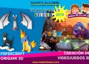 Vacaciones utiles 2019:videojuegos 3d y origami 3d