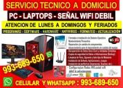 Servicio tecnico a pc internet wifi laptops