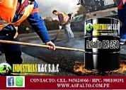 Venta de asfalto rc-250/brea liquida p/galon