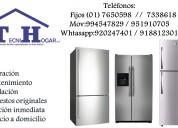 Servicio de refrigeradoras w.w a domicilio