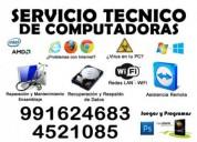 Servicio tÉcnico computadoras 991624683