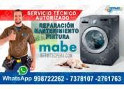 Mabe soporte técnico de lavadoras en comas
