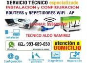 Servicio tecnico a pcs laptops configuracion wifi