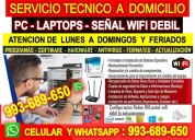 Soporte tecnico a pc laptops configuracion routers
