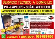 Soporte tecnico a internet wifi pc laptops