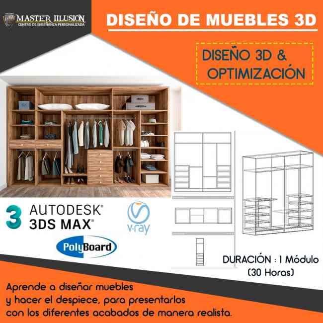 Curso Diseño yModelado de Muebles de Melaminaen3D
