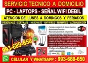 Servicio tecnico a pc laptops configuracion wifi