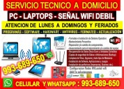 Servicio tecnico a pc laptops repetidores wifi