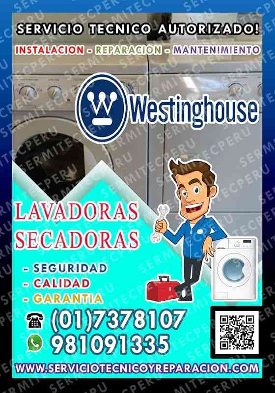 ● Westinghouse 981091335 ●Reparación de Lavadoras