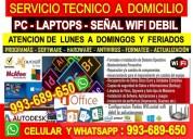 Tecnico de internet wifi  computadoras laptops