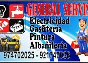 Tecnico electricista, gasfitero