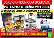 Tecnico de pcs laptop internet cableados formateos