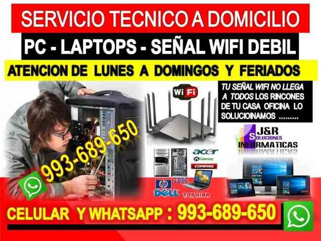 Soporte tecnico a Pc laptops internet cableados