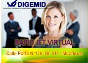 Alquiler de oficina virtual con digemid