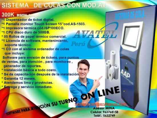 SISTEMAS DE COLAS CON TOTEM AV 300k