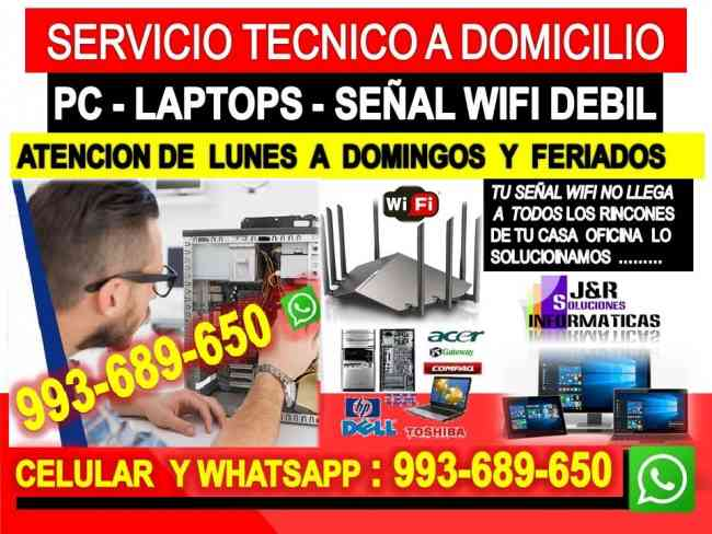 Servicio tecnico a pcs internet wifi laptops