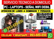 Servicio tecnico a internet wifi pcs laptops