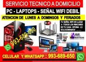 Reparacion de pcs internet wifi laptops formateos