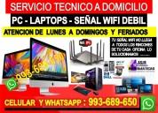 Servicio tecnico a pcs reparacion internet laptops