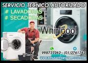 A domicilio…tecnicos de lavadoras whirlpool en sjm