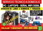 Tecnico de interent pcs laptops cableados a domici