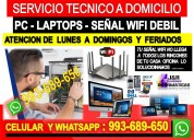 Servicio tecnico internet pcs laptops a domicilio