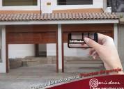 Puertas levadizas seccionales de garaje lima