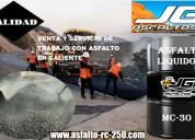 Asfalto mc-30 en cilindro de 55 galones de calidad