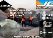 Venta y servicio de trabajo de asfalto en caliente