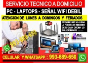 Servicio tecnico internet pc laptops cableados