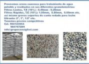 Arena y piedra para filtros de agua potable
