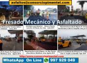 Fresado de pavimento precio por m2 asfaltado y obr